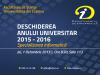 Deschiderea anului universitar 2015-2016