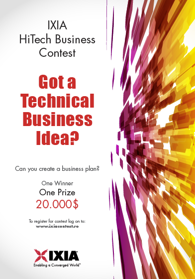 Ixia HiTech Business Contest banner