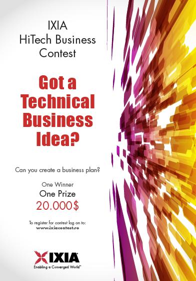 Ixia HiTech Business Contest banner