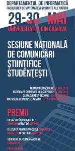 Sesiunea de comunicari studentesti 2015 flyer