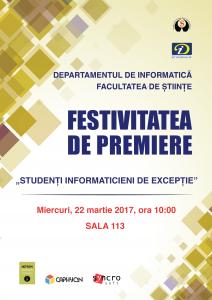 """Premiere r """"Studenti Informaticieni de Exceptie"""" 2017"""