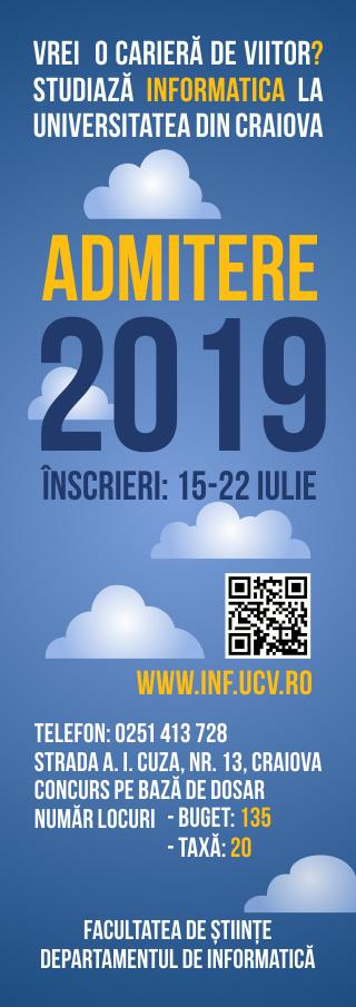 Admitere 2019 Informatica