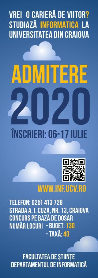 Admitere 2020 Infromatica