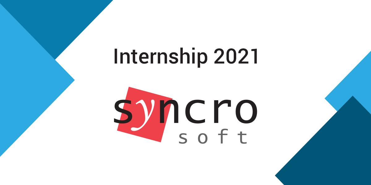 Syncro Summer Internship 2021